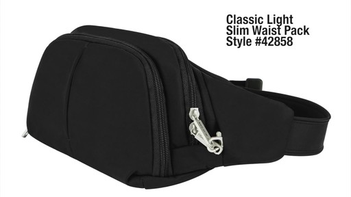 Travelon Anti-Theft Classic Light Slim Waist Pack - eBags.com - image 2 from the video