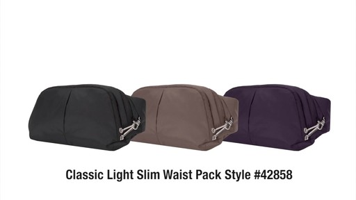Travelon Anti-Theft Classic Light Slim Waist Pack - eBags.com - image 9 from the video