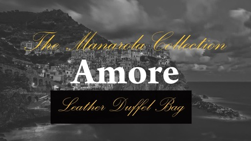 Siamod Manarola Collection Amore Duffel Bag - image 3 from the video