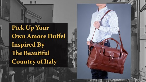 Siamod Manarola Collection Amore Duffel Bag - image 9 from the video