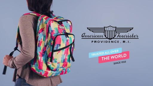 American Tourister Keystone Laptop Backpack - image 10 from the video