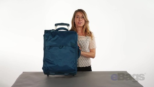 Lipault Paris Foldable 2 Wheeled Luggage - on eBags.com - image 4 from the video