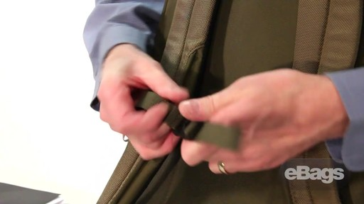 Organized laptop backpack. eTech 2.0 Downloader Laptop Backpack. - image 10 from the video