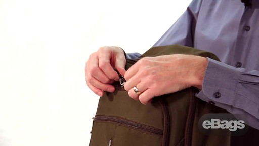 Organized laptop backpack. eTech 2.0 Downloader Laptop Backpack. - image 2 from the video