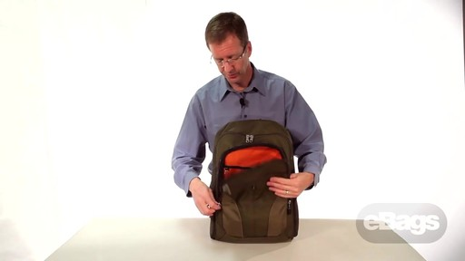 Organized laptop backpack. eTech 2.0 Downloader Laptop Backpack. - image 4 from the video