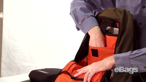 Organized laptop backpack. eTech 2.0 Downloader Laptop Backpack. - image 6 from the video