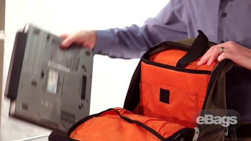 Organized laptop backpack. eTech 2.0 Downloader Laptop Backpack. - image 7 from the video