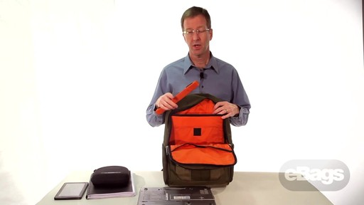 Organized laptop backpack. eTech 2.0 Downloader Laptop Backpack. - image 8 from the video