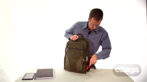 Organized laptop backpack. eTech 2.0 Downloader Laptop Backpack. - image 9 from the video