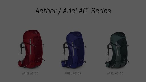 Osprey Aether and Ariel Anti-Gravity Hiking Packs - image 4 from the video