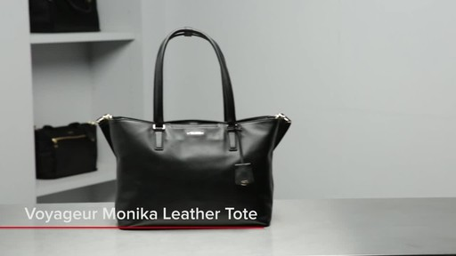 Tumi Voyageur Monika Leather Tote - image 1 from the video