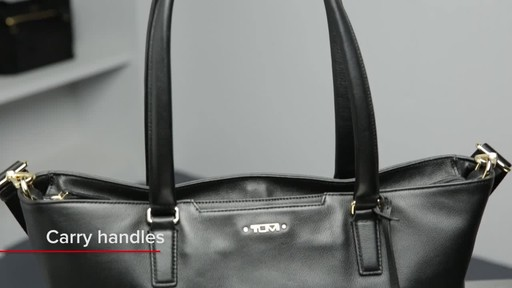 Tumi Voyageur Monika Leather Tote - image 3 from the video