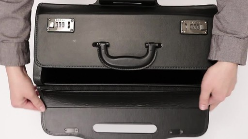 SOLO Classic Rolling Catalog Case, Black with dual combination locks - image 2 from the video