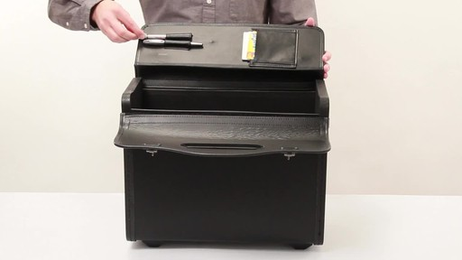 SOLO Classic Rolling Catalog Case, Black with dual combination locks - image 4 from the video