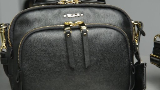 Tumi Voyageur Troy Leather Crossbody - image 10 from the video