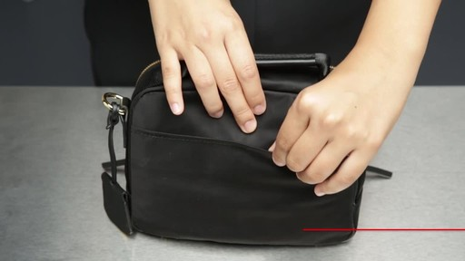Tumi Voyageur Troy Leather Crossbody - image 6 from the video