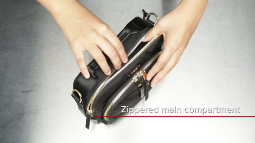 Tumi Voyageur Troy Leather Crossbody - image 8 from the video