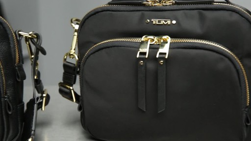 Tumi Voyageur Troy Leather Crossbody - image 9 from the video