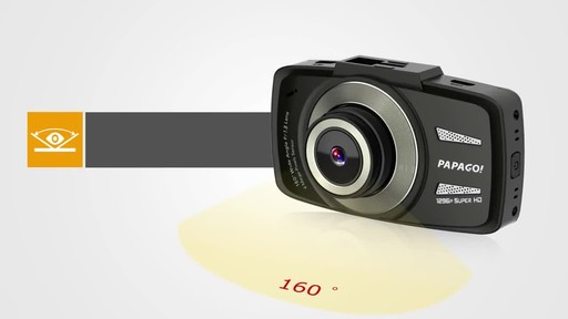 PAPAGO GoSafe 550 Super HD 1296p Ultra Wide Angle Dash Cam Free 8GB Micro SD Card - image 1 from the video
