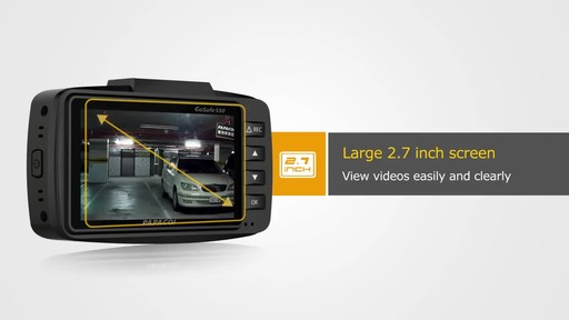 PAPAGO GoSafe 550 Super HD 1296p Ultra Wide Angle Dash Cam Free 8GB Micro SD Card - image 3 from the video