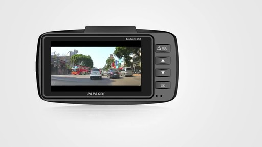 PAPAGO GoSafe 550 Super HD 1296p Ultra Wide Angle Dash Cam Free 8GB Micro SD Card - image 4 from the video