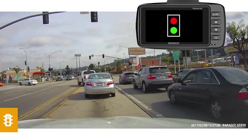 PAPAGO GoSafe 550 Super HD 1296p Ultra Wide Angle Dash Cam Free 8GB Micro SD Card - image 6 from the video