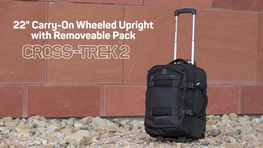 Granite Gear Cross- Trek Convertible Wheeled Carry-On with Removable 28L Pack - image 2 from the video