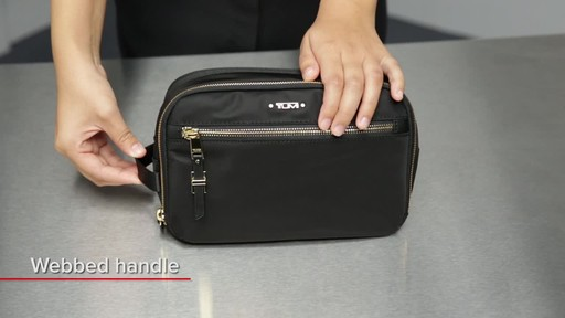 Tumi Voyageur Erie Double Zip Cosmetic - image 2 from the video