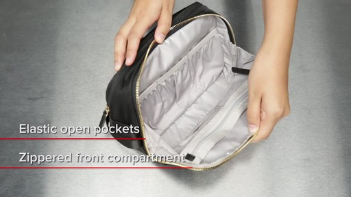 Tumi Voyageur Erie Double Zip Cosmetic - image 6 from the video