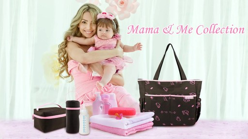 Jacki Design Mama & Me Fashion Diaper Bag Collection - eBags.com - image 1 from the video
