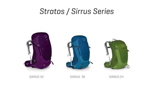 Osprey Stratos and Sirrus Collections - image 2 from the video