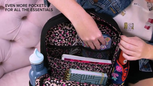 Vera Bradley Iconic Deluxe Campus Backpack - image 4 from the video