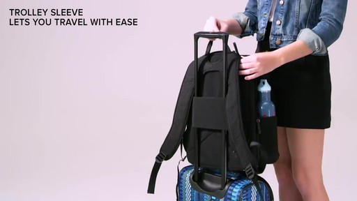 Vera Bradley Iconic Deluxe Campus Backpack - image 6 from the video
