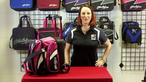 KR Strikeforce Bowling Cruiser Single Bowling Ball Roller Bag - eBags.com - image 2 from the video
