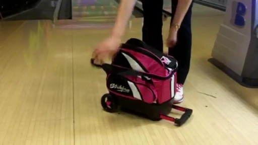 KR Strikeforce Bowling Cruiser Single Bowling Ball Roller Bag - eBags.com - image 5 from the video