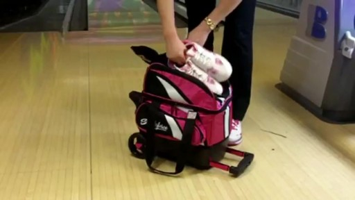 KR Strikeforce Bowling Cruiser Single Bowling Ball Roller Bag - eBags.com - image 6 from the video