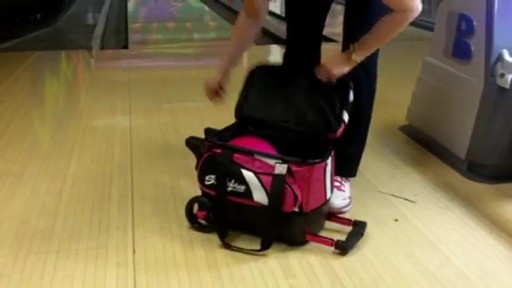 KR Strikeforce Bowling Cruiser Single Bowling Ball Roller Bag - eBags.com - image 8 from the video