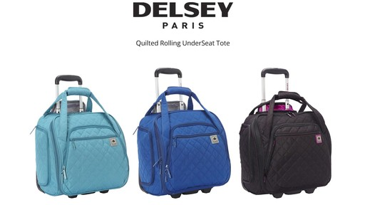 Delsey Quilted Rolling UnderSeat Tote- EXCLUSIVE - on eBags.com - image 10 from the video