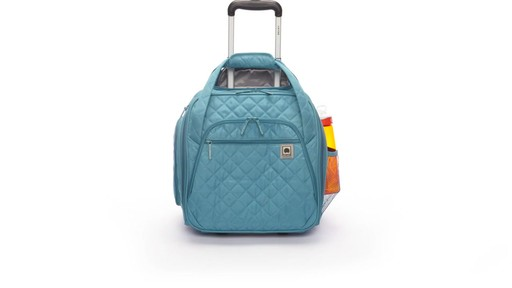 Delsey Quilted Rolling UnderSeat Tote- EXCLUSIVE - on eBags.com - image 2 from the video