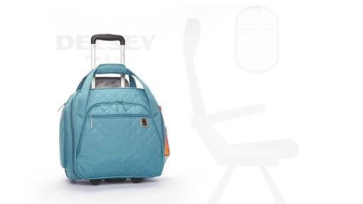 Delsey Quilted Rolling UnderSeat Tote- EXCLUSIVE - on eBags.com - image 8 from the video