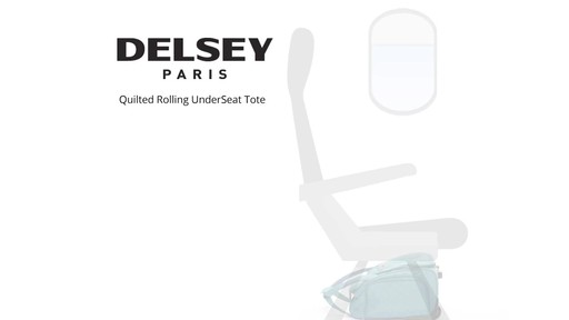 Delsey Quilted Rolling UnderSeat Tote- EXCLUSIVE - on eBags.com - image 9 from the video