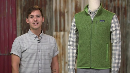 Patagonia Mens Better Sweater Vest - image 10 from the video