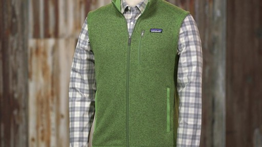 Patagonia Mens Better Sweater Vest - image 2 from the video