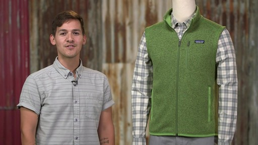 Patagonia Mens Better Sweater Vest - image 5 from the video