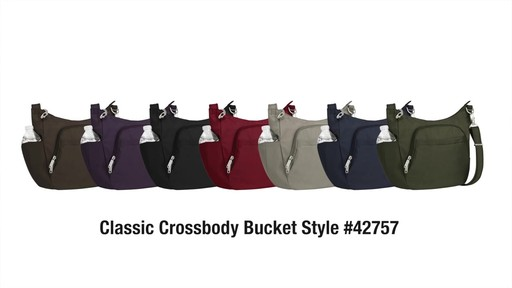 Travelon Anti-Theft Classic Crossbody Bucket Bag - eBags.com - image 10 from the video