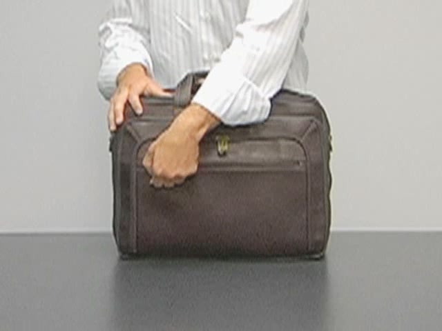 eBags Laptop Collection Colombian Leather Deluxe Laptop Brief - image 1 from the video