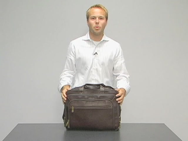 eBags Laptop Collection Colombian Leather Deluxe Laptop Brief - image 10 from the video