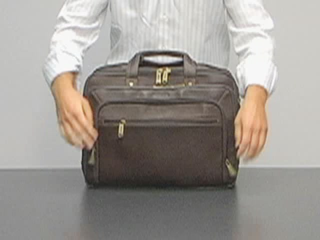 eBags Laptop Collection Colombian Leather Deluxe Laptop Brief - image 2 from the video
