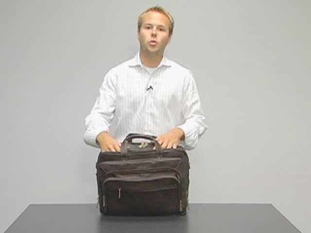 eBags Laptop Collection Colombian Leather Deluxe Laptop Brief - image 4 from the video