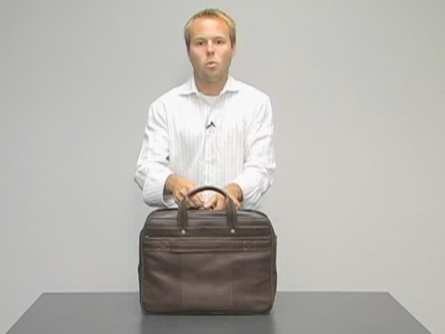 eBags Laptop Collection Colombian Leather Deluxe Laptop Brief - image 6 from the video